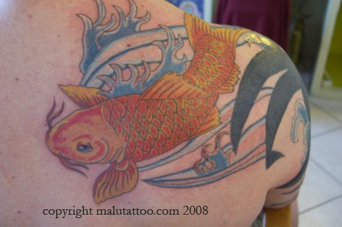 Color Tattoo Koi