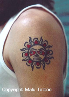 Color Tattoo Native American