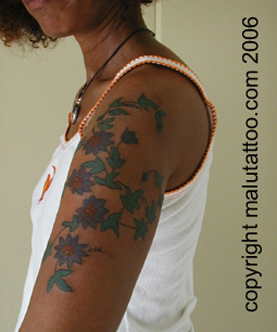 Color Tattoo Passion Flowers