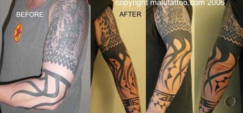 Tattoo Re-Work Native American Sleeve