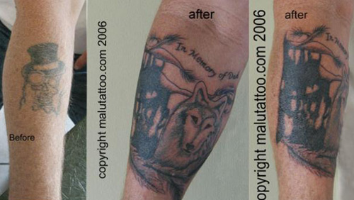 Tattoo Cover-Up Wolf