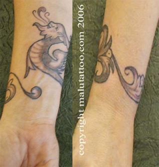 Custom Tattoo Dragon Wrist Band