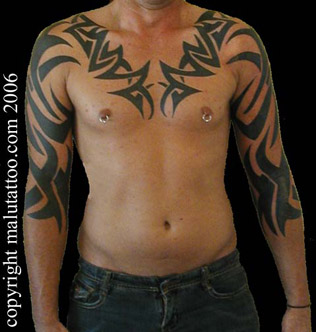 Tribal Tattoo Chest