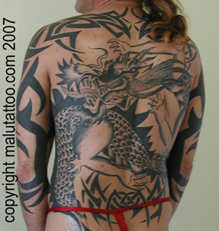 Tribal Tattoo Dragon