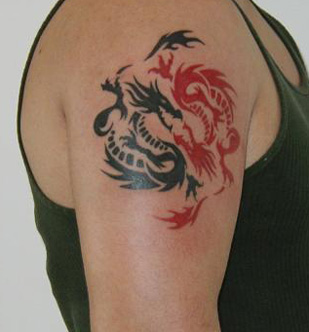 Custom Tattoo Dragons