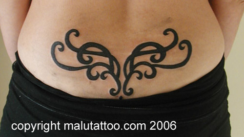 Tribal Tattoo Lower Back 5