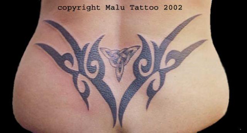 Tribal Tattoo Lower Back 4